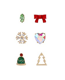 Festive Single Stud Earrings Set