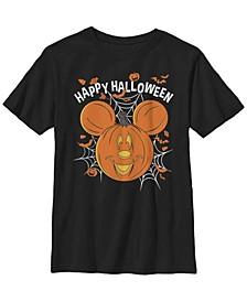 Big Boys Mickey Mouse Jack O Lantern Tee