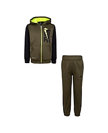 Little Boys Therma Full-Zip Hoodie and Pants Set