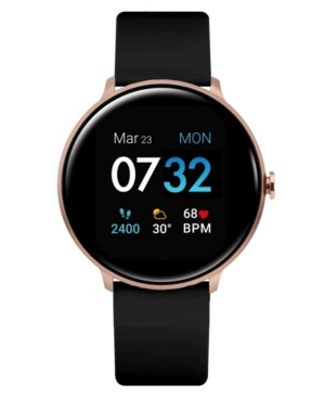 Sport 3 Unisex Touchscreen Smartwatch: Rose Gold Case with Black Silicone Strap 45mm