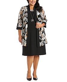Plus Size Printed Jacket Dress