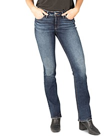 Elyse Mid-Rise Slim-Fit Bootcut Jeans
