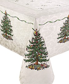 Christmas Tree Ivory/Green 60x84 Tablecloth