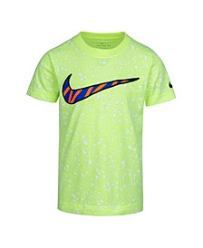 Toddler Boys Splatter Print Swoosh Logo T-Shirt