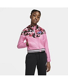 Sportswear Wind Runner Big Girl's Graphic Jacket
