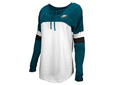 Philadelphia Eagles Women's Lace Up Long Sleeve T-Shirt