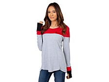 UG Apparel Women's Ohio State Buckeyes Colorblocked Long-Sleeve T-Shirt