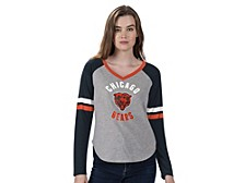 Women's Chicago Bears Asterisk Long-Sleeve T-Shirt
