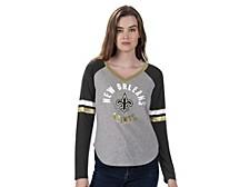 Women's New Orleans Saints Asterisk Long-Sleeve T-Shirt