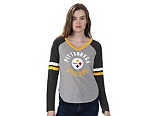 Women's Pittsburgh Steelers Asterisk Long-Sleeve T-Shirt