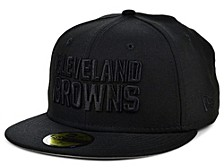 Cleveland Browns Black on Black 59FIFTY Cap
