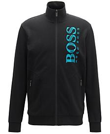 Hugo Boss Men's Logo-Print Piqué Track Jacket