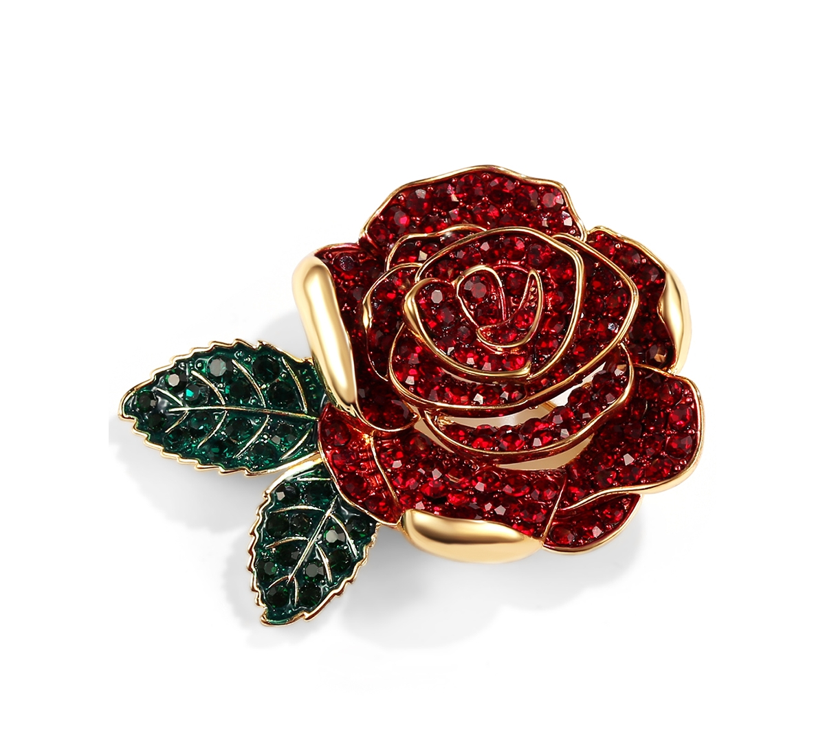 Charter Club Gold-Tone Colored Crystal Rose Pin, Created for Macy's