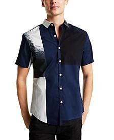 INC Men's Marcel Blocked Shirt, Created for Macy's
