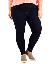 Style & Co Plus Size Wide-Waistband Jeggings, Created for Macy's