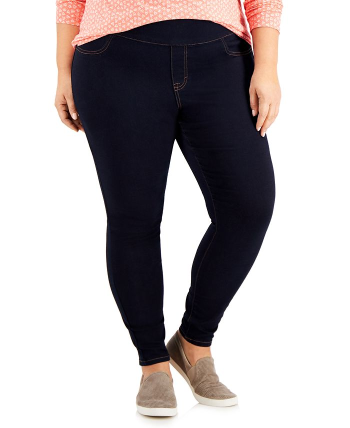 Style & Co - Plus Size Wide-Waistband Jeggings