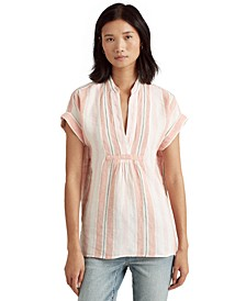 Linen Striped Top