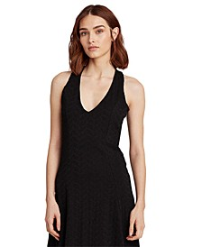Sleeveless Deep V-Neck Dress
