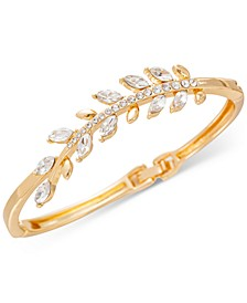 Gold-Tone Pavé Leaf Hinge Bracelet, Created for Macy's