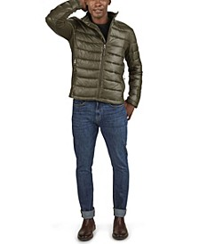 Men's Channel Quilt Hooded Puffer Jacket