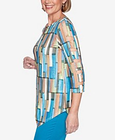 Women's Colorado Springs Geometric Top