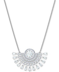 """Crystal Pendant Necklace, 14-7/8 + 2"""" extender"""