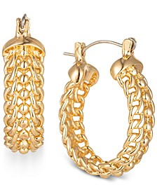 """Gold-Tone Small Chain Link Hoop Earrings, 1"""", Created for Macy's"""