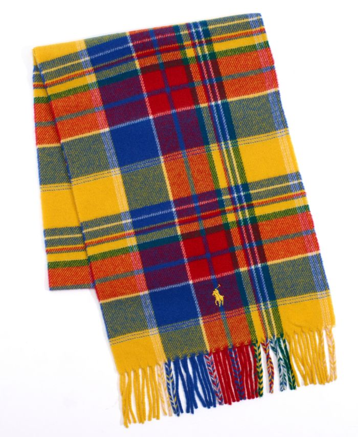 Polo Ralph Lauren Men's Recycled Plaid Cold Weather Scarf & Reviews - Hats, Gloves & Scarves - Men - Macy's