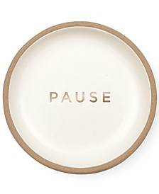 Studio Pause Mini Round Stoneware Catch All Tray