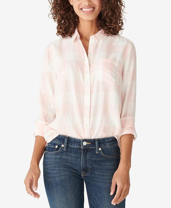 Lucky Brand Classic Lurex Plaid Shirt