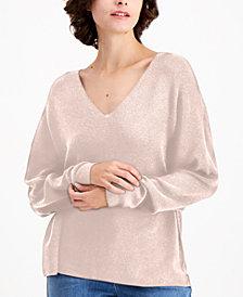 Eileen Fisher V-Neck Drop-Shoulder Sweater