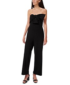Bow-Front Jumpsuit