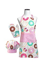 Donut Shoppe Deluxe Child Apron Boxed Set