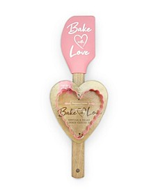 Bake With Love Spatula and One Heart Cookie Cutter Set
