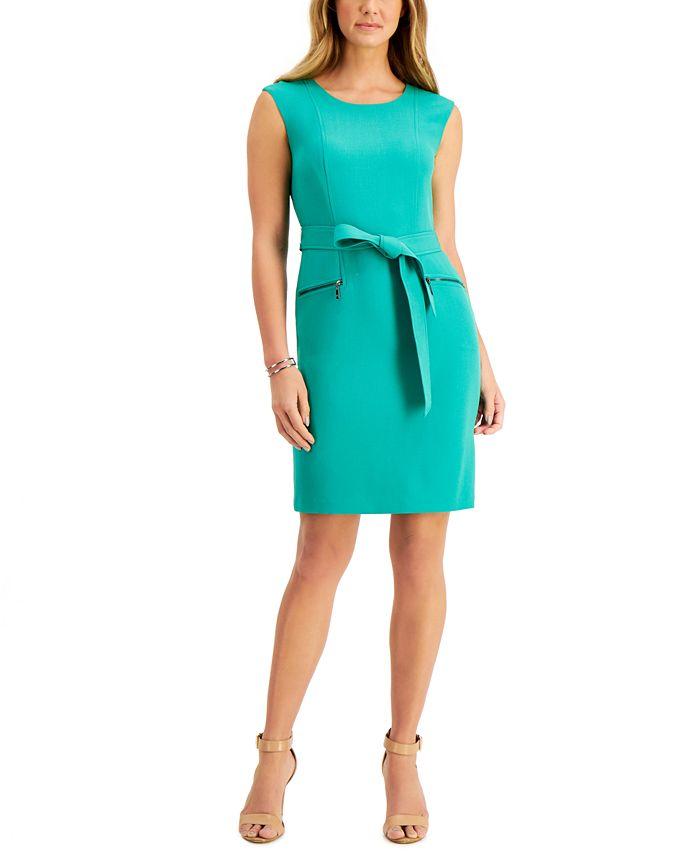 Kasper - Belted Sheath Dress