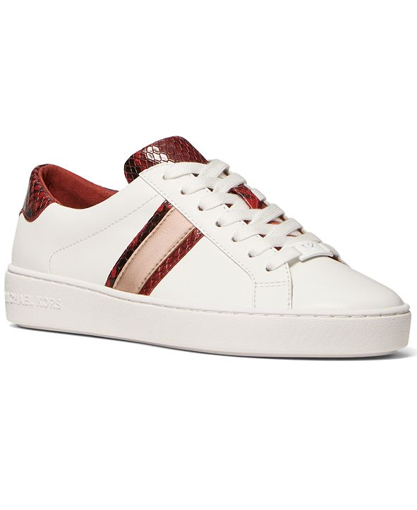 Michael Kors Irving Side-Striped Lace-Up Sneakers