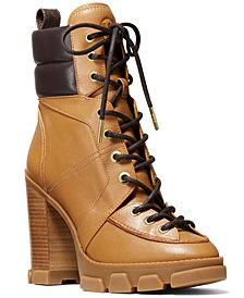 Michael Michael Kors Ridley Lace-Up Lug Sole Boots