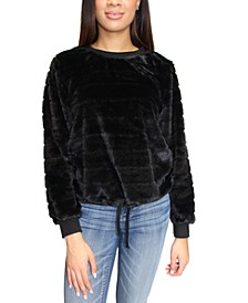Crave Frame Juniors' Faux Fur Sweatshirt