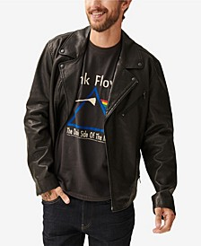 Men's Asymmetrical Moto Leather Jacket