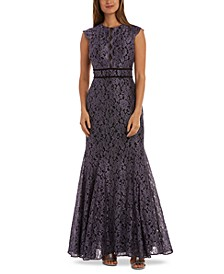 Petite Glitter Lace Gown