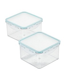 Purely Better™ Square Food Storage Containers, 44-Ounce, Set of 2