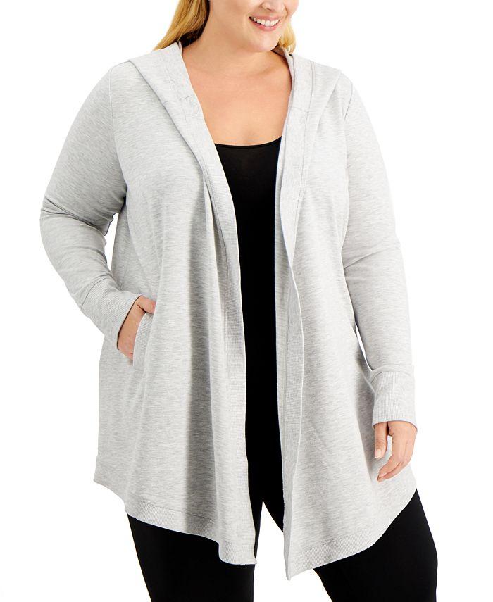 Ideology - Plus Size Open-Front Warm-Up Jacket