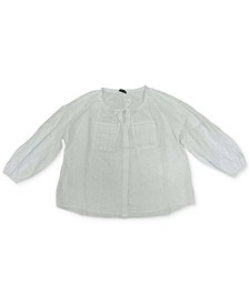INC Plus Size Peasant Shirt, Created for Macy's