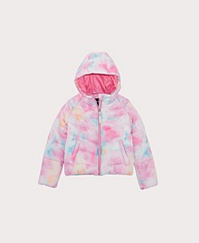 Big Girls Tie Dye Puffer Jacket