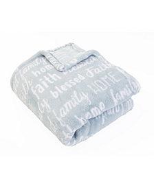 "Pearson Family Words Printed Loft Fleece Throw, 70"" x 50"""