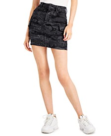 Cargo Denim Mini Skirt