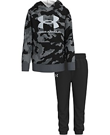 Little Boys Camo CVC with Hoodie and Pant Set