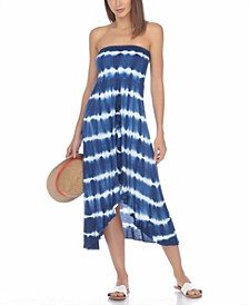 Strapless High-Low Dress Cover-Up