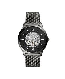 Men's Neutra Gray Mesh Strap Watch 44mm