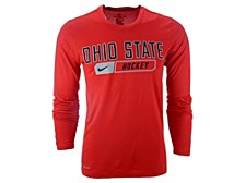 Ohio State Buckeyes Men's Core Hockey Long Sleeve T-Shirt